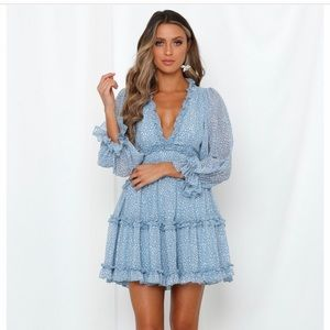 Hello Molly Blue Pattern Dress
